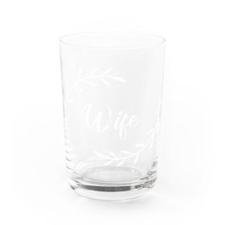 ペア(Wife)リーフ_白 Water Glass