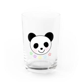 YuuのYuuオリジナルイラスト25 パンダと5色の星 Water Glass