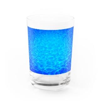 Blue world Water Glass
