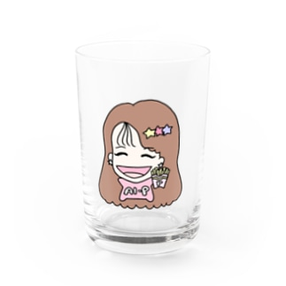 AIP-original goods shopのちびあいぴーグラス pink Water Glass