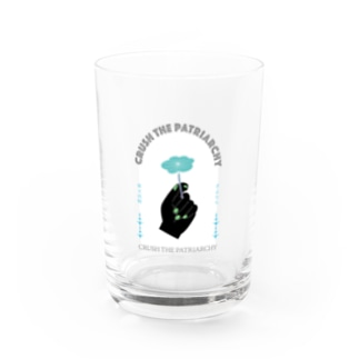 CRUSH THE PATRIARCHY Water Glass
