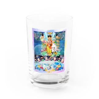 三大神のうちゅう Water Glass