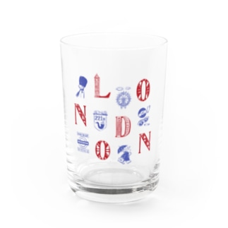 Cities in the World - London (Union Jack) Water Glass