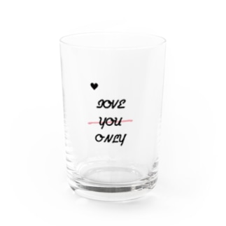 love you only(縦ver.) Water Glass