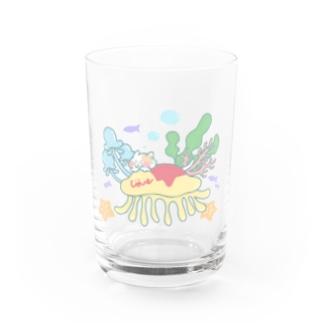 クラゲオムライスにのって Water Glass