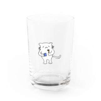 kisyaの歯みがきするねこ Water Glass