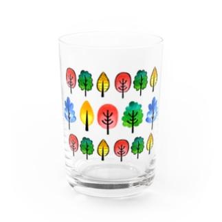 北欧風水彩の木 Water Glass