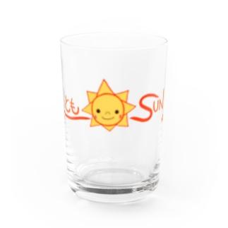 ともSUN ロゴ Water Glass