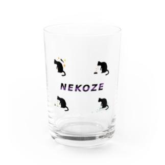 NEKOZE生活ロゴ Water Glass