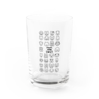 Heart nose DOGSのHeart nose DOGS(縦長) Water Glass