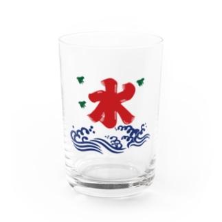 氷解の水(赤) Water Glass
