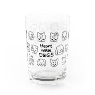 Heart nose DOGS(横長) Water Glass