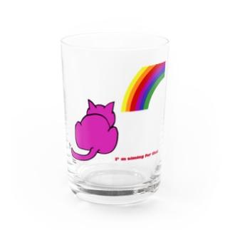 虹と猫 Water Glass