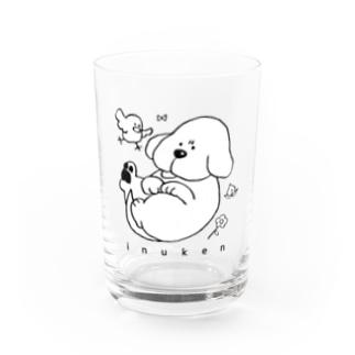 いぬけん「むっ」 Water Glass