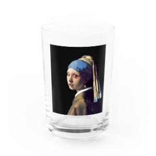 Girl with Eye disease Water Glass