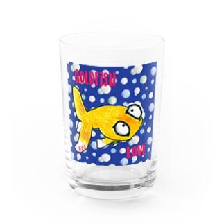 金魚の頂天眼ちゃん カラフル Water Glass