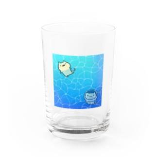 ネコの夏休み Water Glass