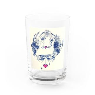 お花の輪 Water Glass