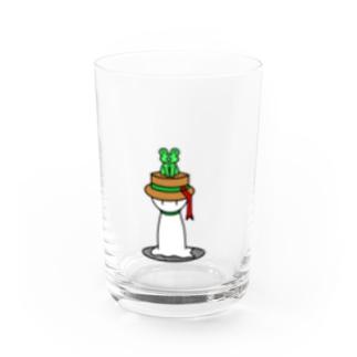 えとハットてるてる(ヘビ) Water Glass