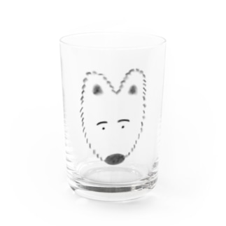 ふわふわわんこ Water Glass