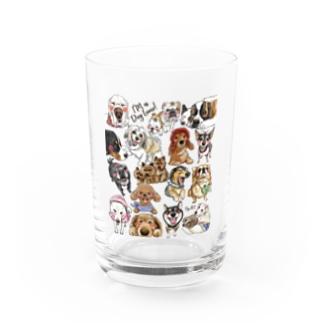 犬に夢中(クリア) Water Glass