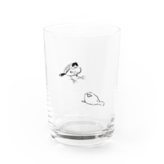 文鳥二羽 Water Glass