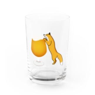 エールちゃんとキツネちゃんグラス Water Glass
