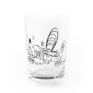 تʎɐssıのタベモノ Water Glass