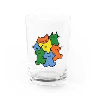 ねこまとめ Water Glass
