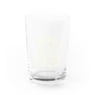 カッパつ野郎(スクーター白) Water Glass