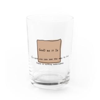 命あるだけで丸儲け Water Glass