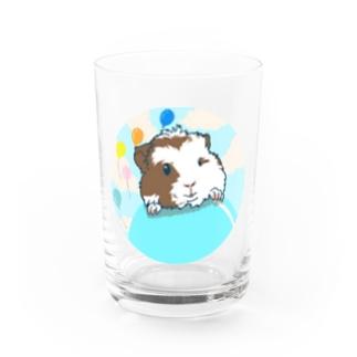 風船モルモット01 Water Glass