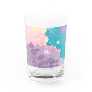 Sisters living on the moon Water Glass