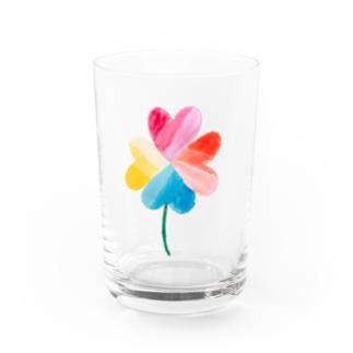 ハートのクローバー Water Glass