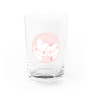 ひょっこりうさちゃんとぺっちゃん Water Glass