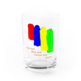 赤、青、黄、緑 Water Glass
