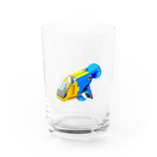 PoooompadoooourのGUPPY(ブルーネオンタキシード) Water Glass
