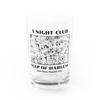 A NIGHT-CLUB MAP OF HEALEM Water Glass