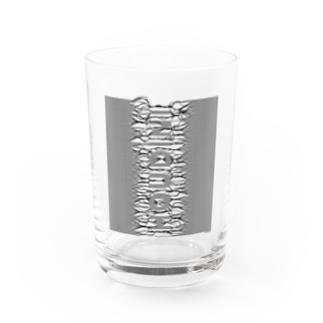 束波 / たばなみ (黒,縦) Water Glass