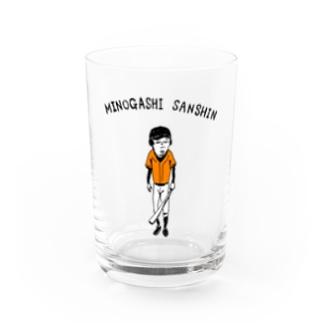 NIKORASU GOの野球Tシャツ「見逃し三振」 Water Glass
