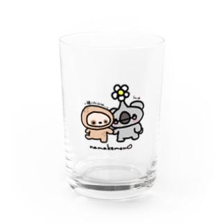 こあらさん×なまけもん Water Glass