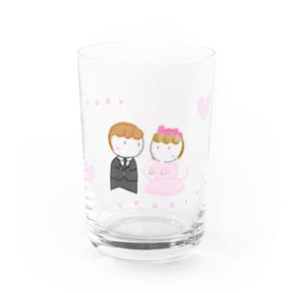 『 Happy Wedding 』 Water Glass