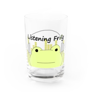 Listening Frog Water Glass