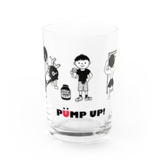 PUMP UP!  筋トレ Water Glass