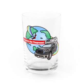 The Earth Is Our Playground Water Glass