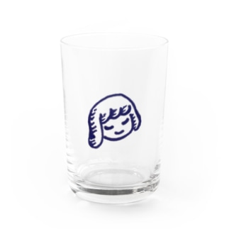 Sleeping Girl Water Glass