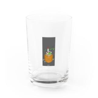 うしうしアイランド Water Glass
