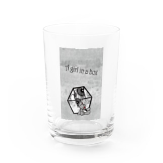 A girl in a box Water Glass