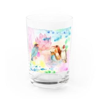 青い鳥がなくとき -蓮の花- Water Glass