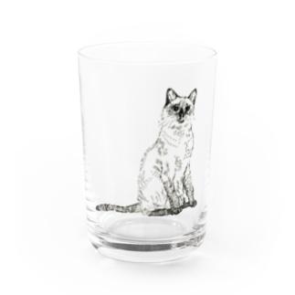 シャムネコ Water Glass